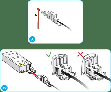 Sluit het glasmodem aan op de glasaansluiting